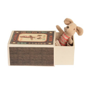 Maileg Baby Girl Mouse in a Matchbox