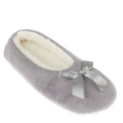 Leisureland Women's Fleece Lined Cosy Slippers Solid Colour