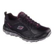 Women's Skechers Work Relaxed Fit Skech-Air Slip Resistant Sneaker Black/Pink