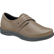 Women's Apex Linda Classic Monk Strap Taupe Full Grain Leather