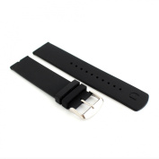 22mm Black Silicone Rubber Watch Strap Band For Motorola Moto 360 Smart Watch