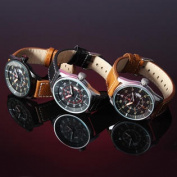 Naviforce NF9044M Military Black Date PU Leather Men Wrist Watch