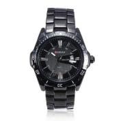 Fashion CURREN 8110 Black Stainless Steel Date Men Quartz Wrist Watch