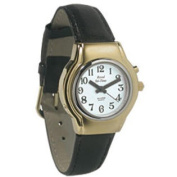 Ladies Royal Tel-Time One Button Talking Watch with Leather Band