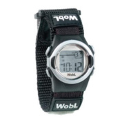 WobL 8-Alarm Vibrating Reminder Watch- Black