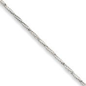 Sterling Silver Polished Anklet 23cm