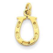 14k Solid Polished Horseshoe Charm - Measures 15x10mm