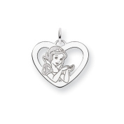 Sterling Silver Disney Snow White Heart Charm