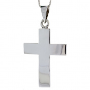 Sterling Silver Cross Pendant Highly Polished Handmade 5.1cm