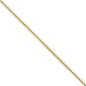 10K YELLOW Gold SOLID BOX Chain 22 Inches Long, 0.5MM Wide