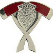 Eagle Emblems PIN-FIRE, AXES, CROSSED