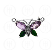 MAS07993 Sterling Silver -Pin Marcasite Butterfly MP23