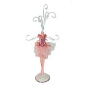 28cm Small Ballerina Jewellery Tree - Pink