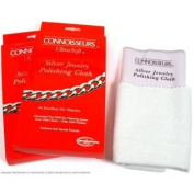 2 Silver Polishing Cloths Clean Jewellery & Watches