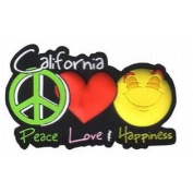California PVC Magnet- Peace/Love/Happiness Case Pack 96