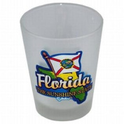 Florida Frosted Shotglass- Map/Flag Case Pack 96