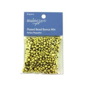 Gold Coloured Plastic Beads, 30 Grammes Set of 300