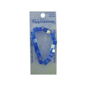 Blue Glass Square Beads Set of 120