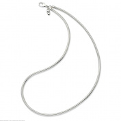 Sterling Silver Bead Necklace 46cm