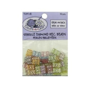 Sparkle Diamond Rectangle Beads, Pack Of 50 Set of 72
