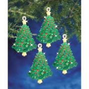 Holiday Beaded Ornament Kit-Emerald Tree Twists