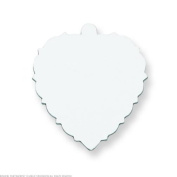 Sterling Silver Heart Stamping Disc 0.09cm