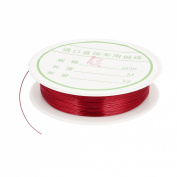 Copper Tiger Tail Strand Beading Wire Bead Wrapping 0.4mm 26 Gauge Red