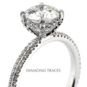 D-L3720-1-KR7330_XD150-4572 1.92 Carat Total Natural Diamonds 18K White Gold 4-Prong Setting Accents Engagement Ring