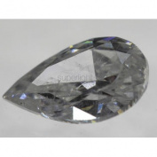 Certified 0.70 Carat D Colour SI1 Pear Natural Loose Diamond 7.76x4.95mm VG VG