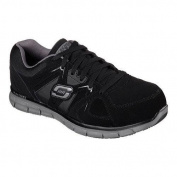 Men's Skechers Work Relaxed Fit Synergy Ekron Alloy Toe Lace Up Black/Charcoal