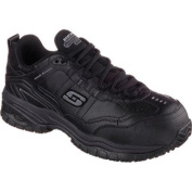 Men's Skechers Work Relaxed Fit Soft Stride Chatham Comp Toe Black