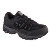 Men's Skechers Work Relaxed Fit Crankton Steel Toe Shoe Black/Charcoal