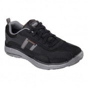 Men's Skechers Relaxed Fit Glides Corsen Bicycle Toe Shoe Black