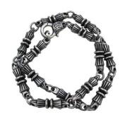 Ornate Bar Link Solid Pewter Necklace 43cm