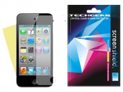 APPLE iPOD TOUCH 4 / 4G / 4th Generation CLEAR Screen Protector with cleaning cloth - Hi-TEC ESSENTIALS