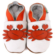 Mr. Crab Soft Sole Leather Baby Shoes