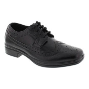 Boys' Deer Stags Ace Wing Tip Oxford Black