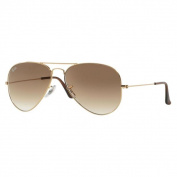 Ray-Ban 'RB37.6m Unisex Shiny Gold Metal Aviator Sunglasses