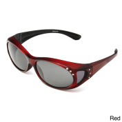 Hot Optix Women's Polarised Jewelled Over-the-Glass Sunglasses