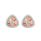 DIAMOND2DEAL 18K ROSE GOLD 1/4CT TW DIAMOND EARRINGS
