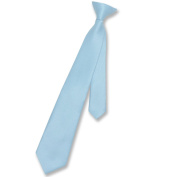 Boy's CLIP-ON NeckTie Solid BABY BLUE Colour Youth Neck Tie