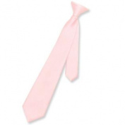 Boy's CLIP-ON NeckTie Solid PINK Colour Youth Neck Tie