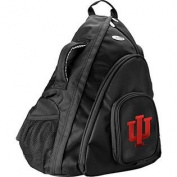 NCAA Indiana Hoosiers Travel Sling Backpack, 48cm , Black