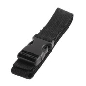 Travel Side Release Buckle Bag Luggage Strap Black 1M Long 25mm Width