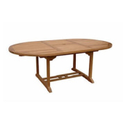 Anderson Teak - TBX-071VT - Bahama 180cm Oval Extension Table Extra Thick Wood
