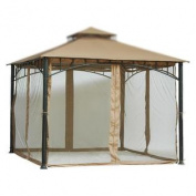 2.1m (210cm ) Tall Beige Mosquito Net ONLY for 10x 10 Gazebo w hook and loop Straps