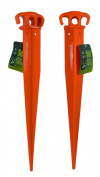Lot of 2 Heavy Duty Plastic 41cm Plant Tent Stakes