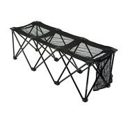 Insta-bench Sport Mesh 3-Seater Bench - Black