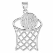 Little Treasures - Basketball Hoop Silver Sports Pendant