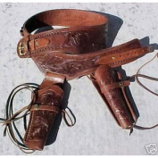 NEW! Brown Double Leather 38/357 cal Holster Western Cowboy Rig. In 38/357 cal Ammo Loops ***